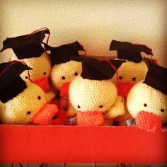 Crocheted ducklings - graduation gift!!!!