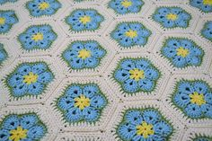 Crochet Afghan Blanket  Aqua Turquoise Blue  by LittlestSister, $275.00 #pcfteam