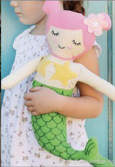 Rini Mermaid Doll. Pattern by Carina Gardener.