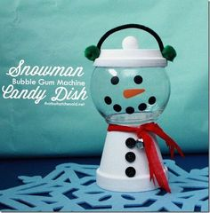 Clay Pot Snowman Candy Dish - That's What {Che} Said...