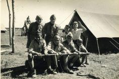 Patrulla de la Tropa  Agrupacion de Scouts Armenios Ararat de HOMENETMEN en el Campamento de Pedernales 1957.