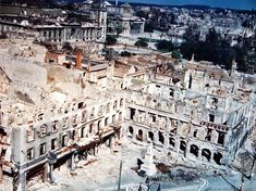 Here is what remains of the city of Darmstadt, Germany, a city of 110,000 people, which was almost completely wiped out by a daylight satura...