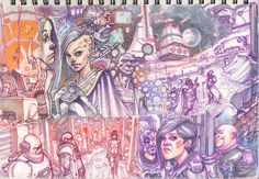 Dylan Teague - I love the sketchbook pages! . . Dylan Teague's Drawing Board