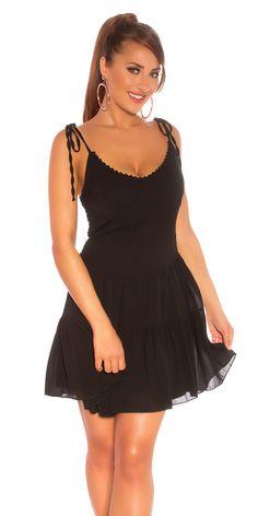 Φόρεμα mini summer Χρώμα: Μαύρο Σύνθεση: 95% POLYESTER , 5% ELASTANE Mini, Summer, Black, Dresses, Fashion, Vestidos, Moda, Summer Time, Black People