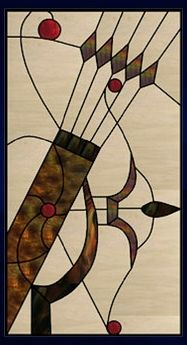unique archery art glass window Get Yours at… Stained Glass Panels, Stained Glass Art, Mosaic Glass, Stained Glass Projects, Stained Glass Patterns, Gothic, Bow Hunting, Window Panels, Glass Design