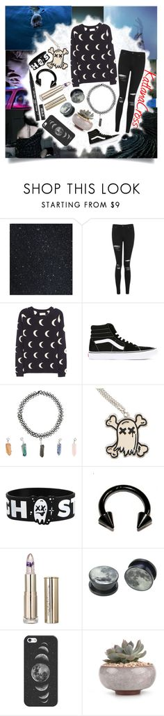 """""""""""Broken me washes out to sea, my emotions are trapped in a bottle"""""""" by katlanacross ❤ liked on Polyvore featuring Therapy, Topshop, Chinti and Parker, Vans, Hot Topic, Kat Von D and Casetify"""