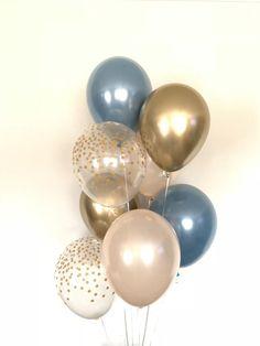 Slate Blue Balloons Slate Blue Wedding Decor Slate Blue | Etsy Balloon Arch Diy, Balloon Decorations Party, Balloon Bouquet, Balloon Garland, Bridal Shower Decorations, Its A Boy Balloons, Blue Balloons, Baby Shower Balloons, Blue Bridal