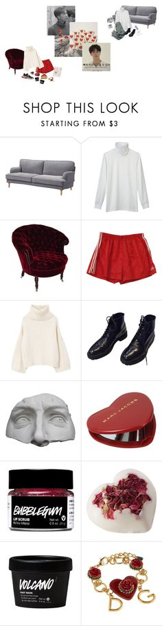 """""""i have a soft spot for namjin"""" by katjq ❤ liked on Polyvore featuring Uniqlo, George, MANGO, Yves Saint Laurent, Romanelli, Marc Jacobs and Dolce&Gabbana"""