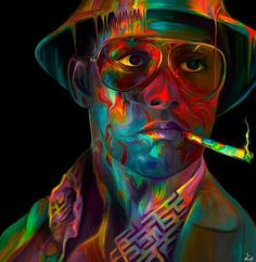 A Trippy Depp as Hunter Thompson in Fear and Loathing in Las Vegas by Orion Rain Ra. Really like this one.