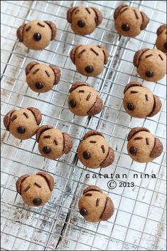 MILO 'DOGGIE' COOKIES | Catatan-Nina Malaysian Food, Cute Food, Granola, Almond, Muffin, Food And Drink, Banana, Cookies, Breakfast