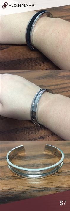 Silver Ponytail Holder Bracelet BRAND NEW!! Silver bracelet that's perfect for holding ponytail holders and keeping your wrist from getting dented from the hair tie Jewelry Bracelets