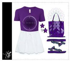 """Purple Time"" by bgmmstore ❤ liked on Polyvore featuring Zara, Teva, Bao Bao by Issey Miyake, purple, Tshirt, Tshirtlove, bgmmstore and needmoretime"