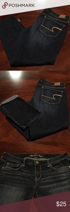 American Eagle Jeans American Eagle Jeans are like new condition excellent condition!!! Worn once a stretch skinny jean !!! American Eagle Outfitters Jeans Skinny