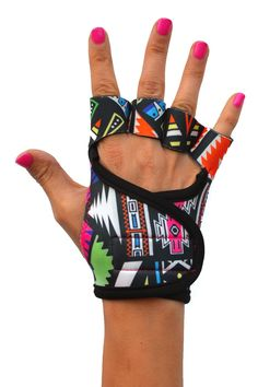 Aztec workout gloves by G-loves.