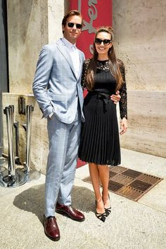#FerragamoVIP | At the #FerragamoSS17 men's show: Armie Hammer and his wife Elizabeth Chambers. #mfw