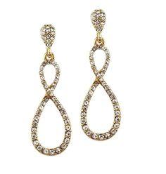 Crystal Infinity Earrings - #Gold