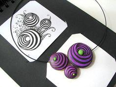 Combinación de zentangle y arcilla polimérica   Flickr - Photo Sharing!