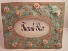 Handmade and Handcut thank you card/ Photo Frame