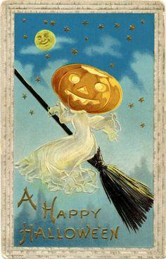 30+ Free Printable Vintage Halloween Images