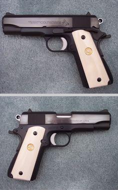 Ted Yost custom Colt Commander Revolver Pistol, Revolvers, 1911 Grips, Colt 1911, 45 Acp, Fire Powers, Cool Guns, Stuff And Thangs, Airsoft Guns