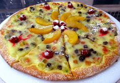 Pizza doce de panetone