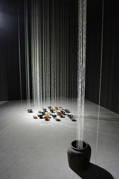 Sayaka Ishizuka's Rice Deity installation made of 4,200 handmade strands of rice grains