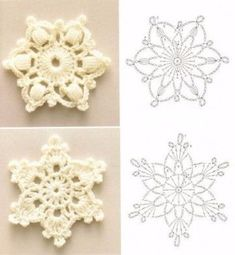 crochet snowflake pattern wonderful diy crochet snowflakes with pattern PHMVRLX Crochet Diy, Crochet Motifs, Crochet Flower Patterns, Crochet Diagram, Crochet Crafts, Crochet Flowers, Crochet Projects, Yarn Crafts, Crochet Books
