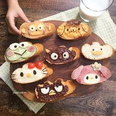 Sanrio characters on baguette pieces for breakfast this morning 😊 . Time flies really fast when you're having fun! Can't believe it's…