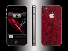FL Luxury Product iPhone 4 python red Python, Iphone 4, Luxury, Red, Leather, January 22