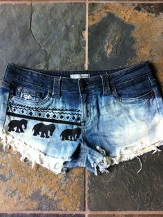 Ombre Elephant Shorts by ChiqueObsessions on Etsy