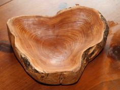 Elm wood bowl hand carved by AlongTheWatersEdge on Etsy, $249.00
