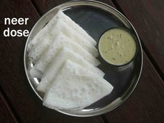 how to make neer dosa recipe, neer dose, neerdose with step by step photo/video recipe. popular dosa made with rice batter, from udupi & mangalore cuisine Indian Breakfast, Breakfast Items, Breakfast Recipes, Snack Recipes, Cooking Recipes, Bread Recipes, Garlic Recipes, Morning Breakfast, Sandwich Recipes