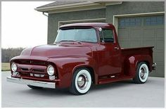 Chevy trucks aficionados are not just after the newer trucks built by Chevrolet. They are also into oldies but goodies trucks that have been magnificently preserved for long years. Ford 56, 1956 Ford Truck, 1956 Ford F100, Old Ford Trucks, Old Pickup Trucks, Hot Rod Trucks, New Trucks, Custom Trucks, Cool Trucks