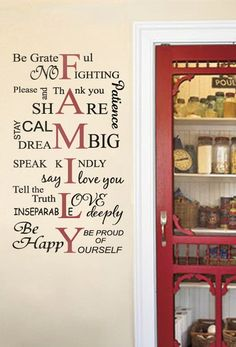 quote wall decal - rules of the house - wall decals , home wallart