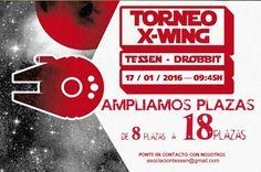 ¡¡¡AMPLIAMOS PLAZAS PARA NUESTRO TORNEO DE X-WING!!  Link al evento: https://www.facebook.com/events/211143005890780/