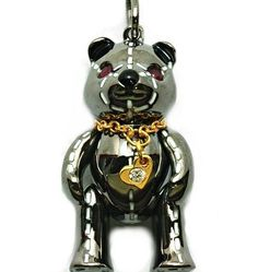 Stitched Bear- 4131, Silver, Black Rhodium & 18ct yellow gold Vermeil, Ruby eyes. RRP$199