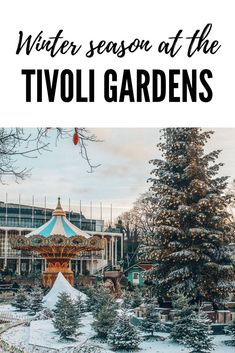 The Tivoli Gardens is the second oldest amusement park in the world. It opened in 1843 at the same spot it is located today in central Copenhagen. The park has more than 25 rides but is mostly known for its many lights. Approximately 115000 lightbulbs light up the park at night, which makes it the perfect place for a romantic walk or some great pictures.  Tivoli Winter Season, Snow, Christmas Tree, Carrousel, Copenhagen