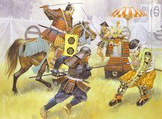 """Batalla de Okehazama, 1560"", Angus McBride - Oda Nobunaga e Imagawa Yoshimoto all'attacco"