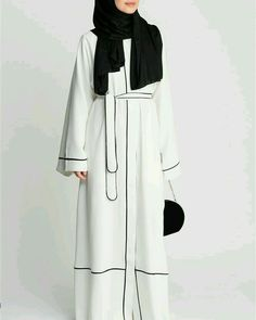 ferace Islamic Fashion, Muslim Fashion, Modest Fashion, Fashion Outfits, Muslim Dress, Hijab Dress, Hijab Outfit, Abaya Noir, Muslimah Clothing