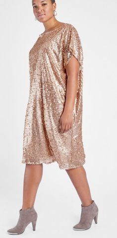 Anna Scholz Plus Size Sequin Tunic Dress - Plus Size Party Dress - Plus Size Fashion for Women Plus Size Sequin Dresses, Plus Size Party Dresses, Dress Plus Size, Party Dresses For Women, Plus Size Outfits, Wedding Dresses, Plus Size Fashion For Women Summer, Latest Fashion For Women, Fashion Women