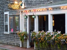 Starlight Cafe. Nantucket. photo by HunterReed.com used to be named the white dog cafe and in the summertime played movies if I  am remembering correctly.