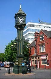 The Chamberlain Clock stands at the junction of Vyse and Frederick Street with Warstone Lane. It was constructed in 1903 to mark Joseph Chamberlain's visit to South Africa. It was unveiled in January 1904 by Chamberlain's wife. Birmingham Jewellery Quarter, Thing 1, West Midlands, Great Restaurants, Big Ben, Building, Clock, Jewelry, South Africa