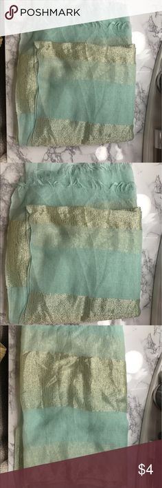 Aqua & Cold Striped Scarf Scarf has never been worn Accessories Scarves & Wraps