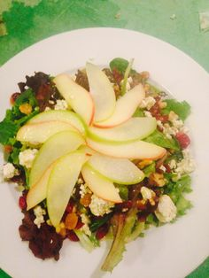 Washington Apple Salad with Walnuts, Raisins and Blue Cheese