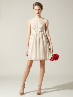 images of 2014 cute fall maternity clothes | Silk Chiffon Bow Dress by BHLDN at Gilt