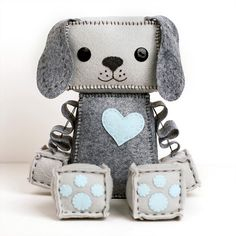 Large Puppy Robot Plush by GinnyPenny on Etsy https://www.etsy.com/listing/237358714/large-puppy-robot-plush