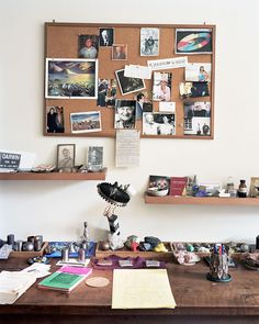 The desk of Oliver Sacks (author, neurologist, and someone I very much admire)