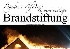 Pegida und AfD: die gemeinnützige Brandstiftung.