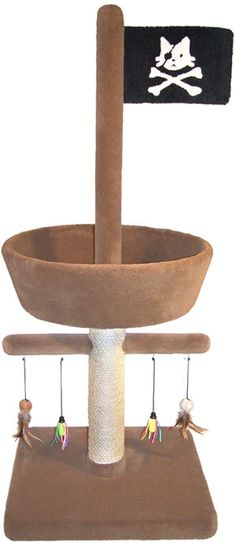 Pirate Crows Nest Cat Tree - comes in a range of colours!