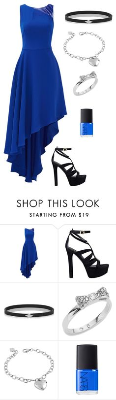 """""""Night Out"""" by thefaultinourflowers ❤ liked on Polyvore featuring Halston Heritage, GUESS, Wendy Nichol, Kate Spade, West Coast Jewelry, NARS Cosmetics, women's clothing, women, female and woman"""